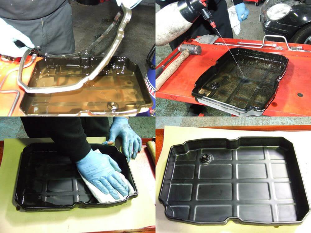 auto box pan clean